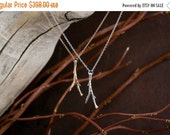 Valentines Day Sale 14k gold twig necklace   Gold Necklace