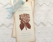 Hydrangea Favors Bridal Shower Bookmarks Wedding Baby Shower Set of 10