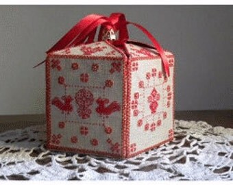 Cross Stitch Pattern, Five Sides Box Counted Cross Stitch Pattern by MTV Designs, Treasure of Love Box DD