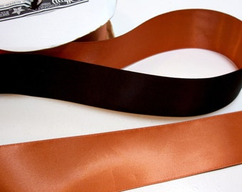 Orange Ribbon, Orange and Black Satin Ribbon 1 1/2 inches wide x 10 yards, SECOND QUALITY FLAWED, Offray Dual Tone Shadows Ribbon