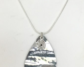 Hammered Stainless Steel Pendant