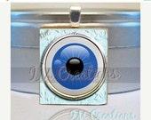 60% OFF CLEARANCE Scrabble tile pendant necklace - Evil Eye (SYM226)