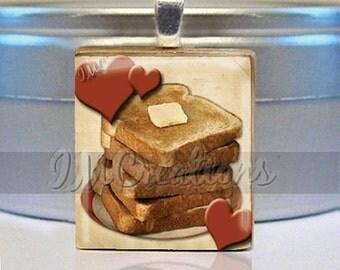60% OFF CLEARANCE Scrabble tile pendant necklace - Love Toast (FD107)
