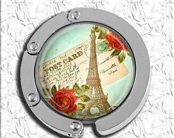 60% OFF CLEARANCE Foldable Bag Purse Hook - Romance in Paris FHK185