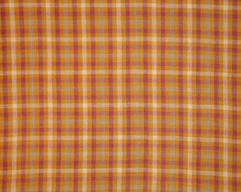 Homespun Fabric | Cotton Fabric | Plaid Fabric | Quilt Fabric | Home Decor Fabric | Craft Fabric |  Sewing Fabric | 1 Yard