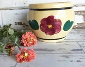 Vintage Watt Pottery Cookie Jar - Rio Rose