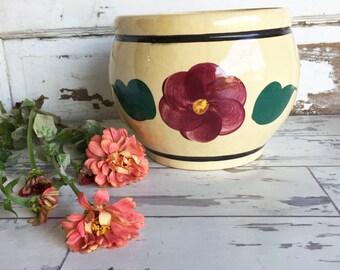 Vintage Watt Pottery Cookie Jar - Rio Rose