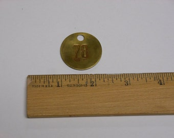Vintage Brass Tag