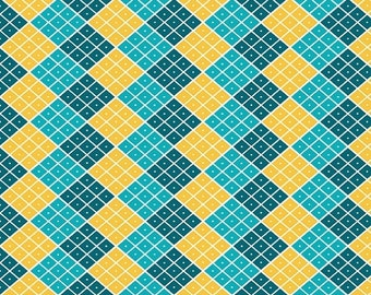 SALE Indie Chic Multi Checkers - 1/2 Yard