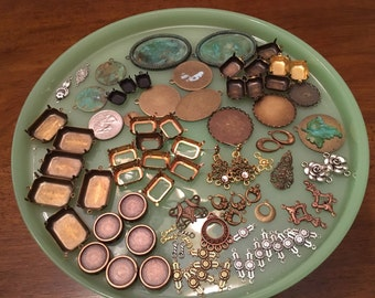 Vintage jewelry findings lot