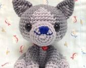 Amigurumi Cat / Crocheted Cat ---Russian Blue