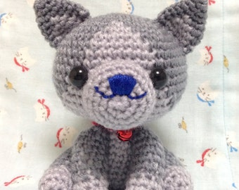 Amigurumi Cat / Crocheted Cat ---Russian Blue