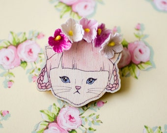 Deluxe Georgina Kitten Brooch