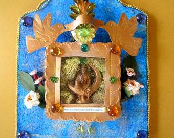 May you trust your hearts wisdom Quan Yin Altar Shrine sacred wall art spiritual healing