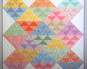 BABY GEESE a Vintage Quilt from Quilts by Elena 1930s Reproduction Fabrics