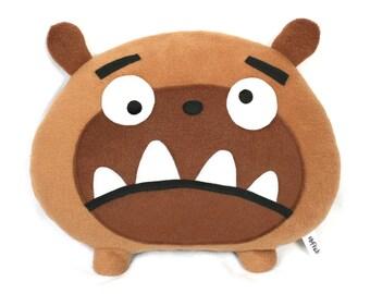Bruno the dog pillow plush toy bulldog pug