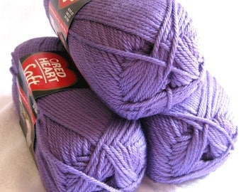 Red Heart Soft LAVENDER yarn, medium worsted weight yarn, light purple, mauve