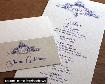 Emiria Menu, Table Marker & Place Card Set