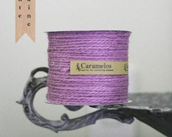 100 yds of Lavender Jute Twine