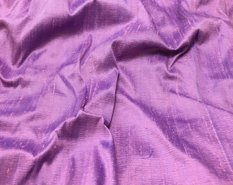 Lilac & Purple Silk DUPIONI Fabric - 1 Yard