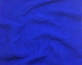 Silk Chiffon Fabric - MARINE BLUE - 1 Yard