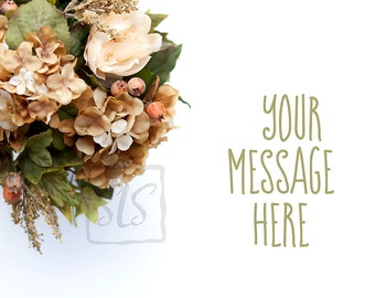 Floral Bouquet Mockup Styled Stock Photography Fall Autumn Background Desktop Wallpaper #215