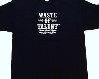 Mens Waste of Talent Tee Black Small