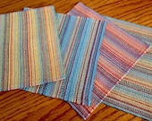 Handwoven Multi-color Cocktail Napkins - Set of four