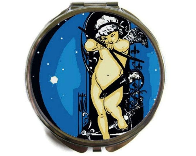 Cupid's Arrow Compact Mirror Pocket Mirror Large