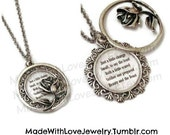 Tale As Old As Time Beauty and the Beast Inspired Lyrics Necklace