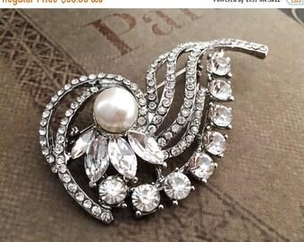 50% OFF Wedding Brooch Rhinestone Brooch Bridal Brooch Pearl Brooch Crystal Brooch