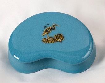 Fused Glass Trinket Box - BluDragonfly SRA - Heron