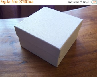 Summer Stock Up Sale 50 Pack White Cotton Filled Deep 3.5X3.5X2 Inch Size Jewelry Gift Retail Boxes