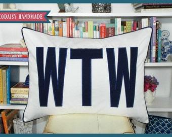 FILL'ER UP Large Applique Monogram King Pillow Sham - 20 x 36
