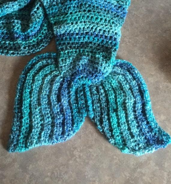 Easy Crochet Pattern For Mermaid Blanket : Angies Quick and Easy Mermaid Tail Lap Blanket Crochet by ...
