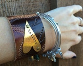 believe ~ hand stamped leather cuff bracelet