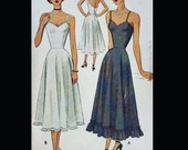 Vintage 40s Princess Seam Full Long Slip Sewing Pattern 7244 B32