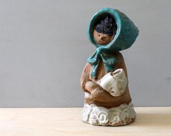 Metlox Poppytrail Poppet. Sally Girl with Baby. Design by Helen Slater