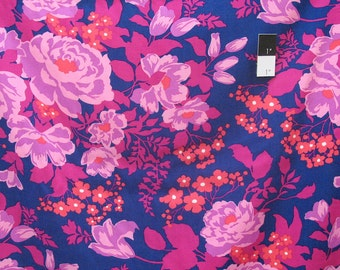 Joel Dewberry RAJD005 Flora Rose Bouquet Orchid Rayon Fabric By The Yard