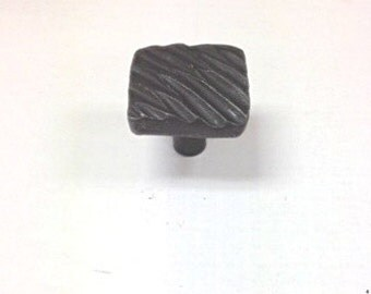 "HomeGrown 142351 1 1/4"" Wrought Iron Diagonal Lines Cabinet Drawer Pull Knob"