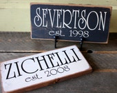 Personalized Family Name and Established Year Signs
