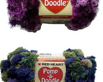 Red Heart Pomp-A-Doodle Super Bulky Yarn - Discontinued - Some colors still available - 1 Skein fnt