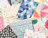Patterned Papers Bundle 18 Sheets 6 x 6 inch, Bright, Colourful Designs