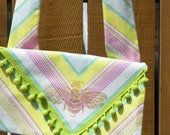 Garden Brights Envelope Style Small Day Bag with Golden Bee Print