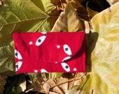 Red Fox Flannel Teeny Pocket Jewelry Pouch