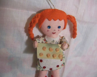 adorable felt doll ornament