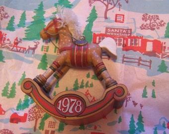 1978 rocking horse ornament