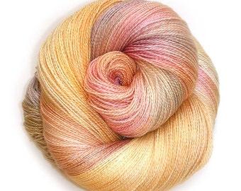 NEW Mulberry Silk and Merino Lace Yarn, 866 yards, Rainier Cherry