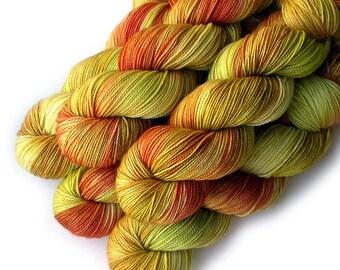 Superwash Merino and Nylon Yarn - Striped Peppers, 400 yards