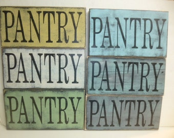 STORE CLOSING 50% off SALE / Pantry sign/ wood pantry sign / pantry wall sign / hand painted sign / painted wood sign / pantry decor / sign